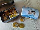 Сундук-копилка с шоколадными конфетами Piraten Schatz, 200 г., фото 3