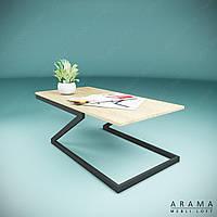 Журнальний стіл лофт Z, фото 1