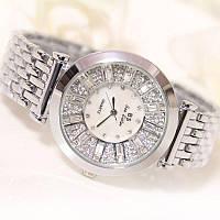 """Шикарные серебристые часы с фианитами """"Нью Йорк"""" от студии LadyStyle.Biz"""