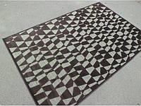 Вискозный шоколадный ковер абстракция, фото 1