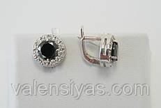 Серьги женские серебряные 925 пробы