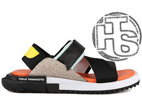 Женские сандалии Adidas Y-3 Kaohe Sandal Black/V-Blue/Supcol B23722