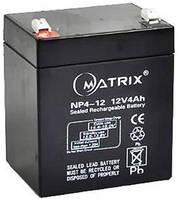 Акумуляторна батарея Matrix 12В 4Ач, NP4-12