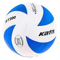 Мяч волейбольный клееный Kata200 PU Blue/White