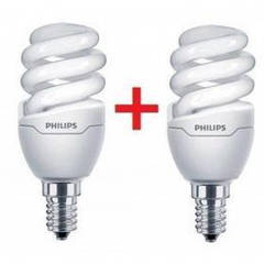 Лампочка PHILIPS E14 8W 220-240V WW Tornado T2 mini (1+1) (8717943885299) Е14, 8 Вт