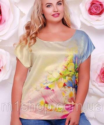 e282321660d Женская футболка-блузка больших размеров (Beauty fup) купить ...