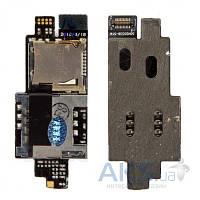 Шлейф для HTC A9191 Desire HD / G10 для SIM карты, карты памяти Original