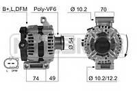 Генератор Ford Galaxy II 2.0, Ford Mondeo IV 2.0, Ford S-Max, Форд галакси, мондео, 150ампер.