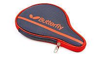 Чехол для ракетки настольного тенниса BUTTERFLY NAKAMA (PL, черно-красный, р-р 30х3х19см)