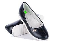 Туфли для девочек оптом от производителя Waldem S-02 Black (12/6 пар, 31-36)