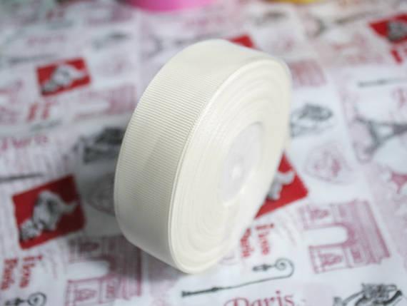 Лента репсовая молочная 25 мм, 23 м, фото 2