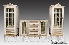 """Буфет классическом стиле """"Регина"""" со стеклянными фасадами, фото 2"""