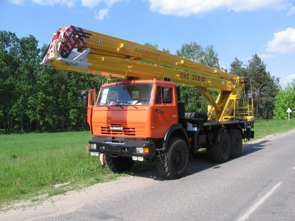 Підйомник СММ ПМС-328-02 на шасі КАМАЗ-43114