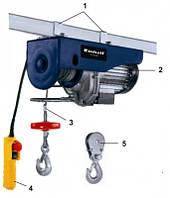 Тельфер электрический, 1050 Вт, 600 кг, 5,7 м Einhell Blue BT-EH 600  2255711