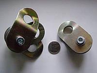 Блок-ролик двойной   под трос 6 мм-8 мм с подшипником и разводными щеками