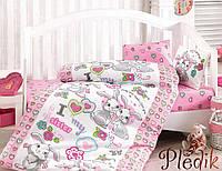 Комплект постельного белья для новорожденных Cotton Box Tavsan KardesPembe