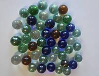 Камни Декор Стеклянные ШАРИКИ разноцветные прозрачные
