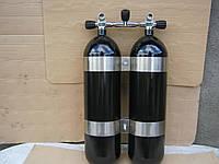 Баллон алюминиевый TWINSET 2 X11 L 200 BAR с вентилем, фото 1