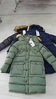 Подростковая зимняя удлиненная куртка для мальчиков GRACE