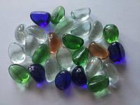 Декоративные Стеклянные Камни, Разноцветные Дольки, фото 1