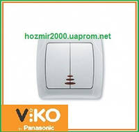 Выключатель двойной с подсветкой Viko Carmen