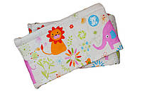 Защита бампер в детскую кроватку Слоники из двух частей