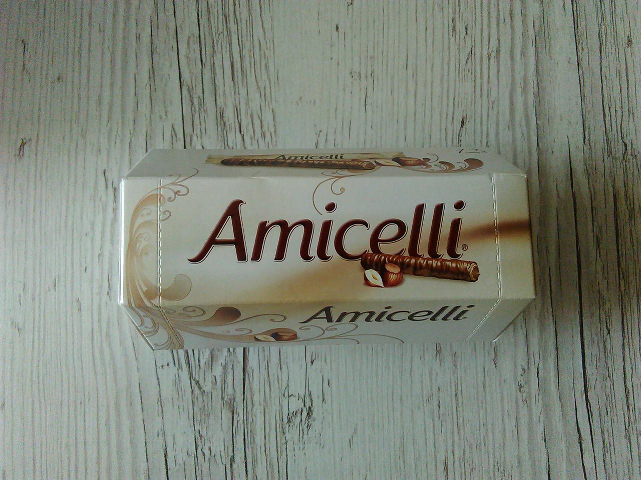 Шоколадные палочки Amicelli (со вкусом фундука), 150 гр