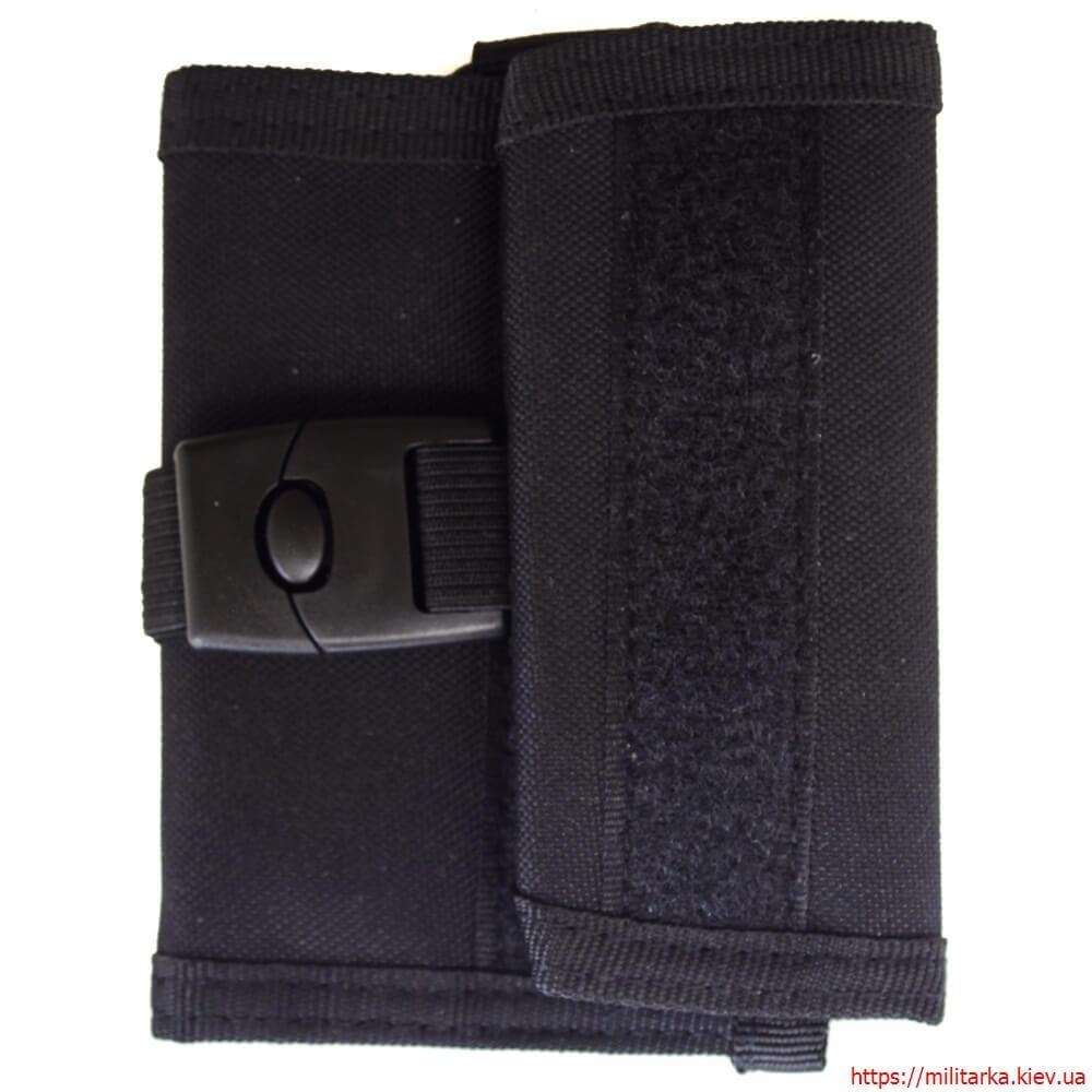 Военный кошелек с застежкой кордура черный