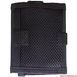 Военный кошелек с застежкой кордура черный, фото 3