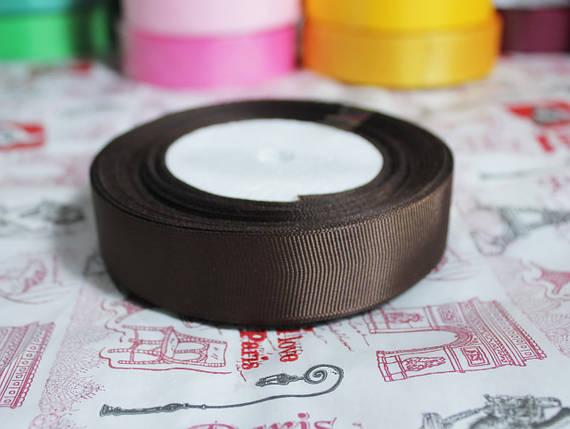 Лента репсовая шоколадная 25 мм, 23 м, фото 2