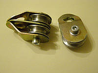 Блок-ролик двойной под канат 6 мм-8 мм с подшипником металлический