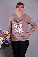 Блуза-туника трикотажная 428-осн621/2-128 батал от производителя Украина