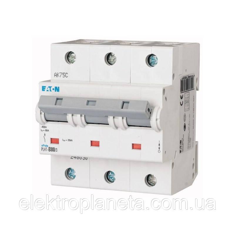 Автоматические выключатели Eaton / Moeller 3pol PLHT C80