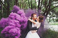 Ручний фіолетовий  кольоровий дим середньої насиченості (дим12), 60 сек., Цветной Дым