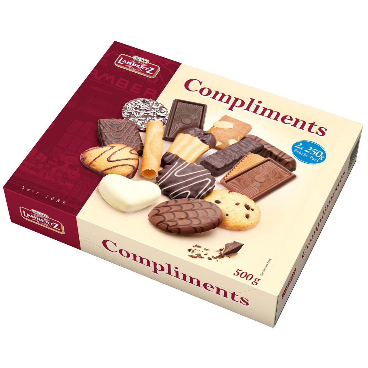 Печиво пісочне з шоколадом асорті Lambertz Compliments, 500 р.