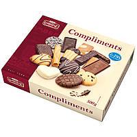 Печенье песочное с шоколадом ассорти Lambertz Compliments, 500 г.