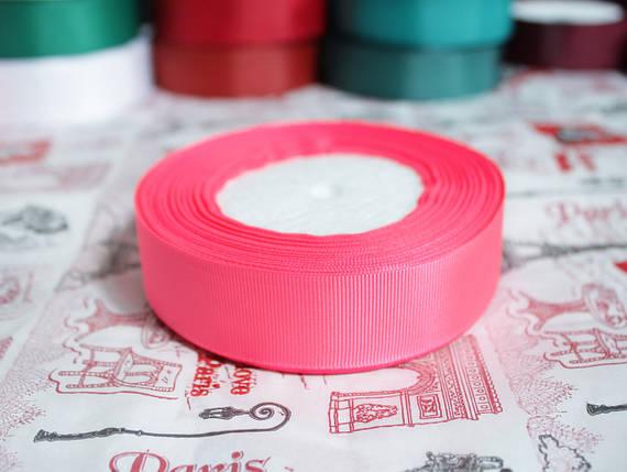 Лента репсовая ярко- розовая 25 мм, 23 м, фото 2