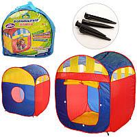Детская игровая палатка M 1421 куб, 90-85-105см, 1 вход, застежка-липучка, окно-сетка