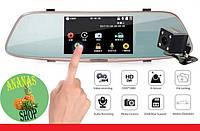 """Сенсорное зеркало заднего вида DVR L808 Full HD 5"""" с видеорегистратором и камерой заднего вида."""