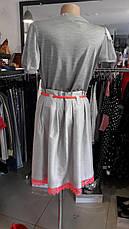 Женская футболка дизайнерская летняя серая с коротким рукавом, фото 3