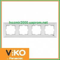 Четверная горизонтальная рамка Viko Meridian
