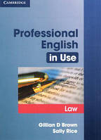Professional English in Use Law with key