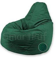 Кресло-груша Оксфорд / Размер S + Съемный чехол, Темно-зеленый