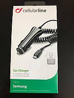 Автомобильное зарядное устройство Cellular Line Micro USB v.1 для смарфонов Samsung, Nokia, LG, Sony, Motorola
