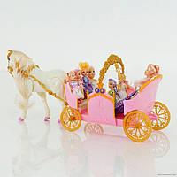 Карета с куклами музыкальная 28926, коробка р. 79-27-18 см.