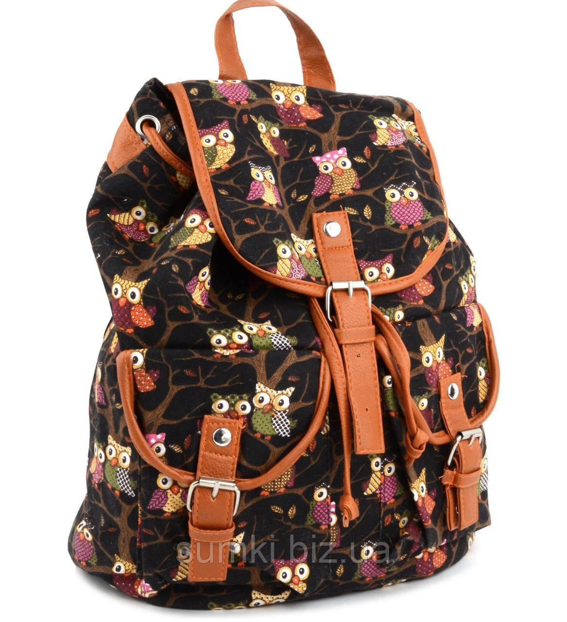 Рюкзак для девочки с совами