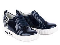 Модная демисезонная обувь. Сникерсы для девочек от производителя Waldem S-17 Black (12/6 ар, 33 - 38)