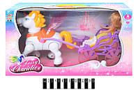 Карета с куклой HD955, коробка р.42*13*23 см.