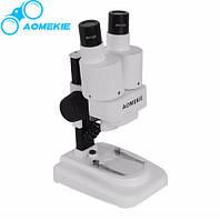 Микроскоп бинокулярный стерео AOmekie 20X с подсветкой