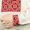 Чоловіча сорочка вишиванка із сірого льону, фото 3